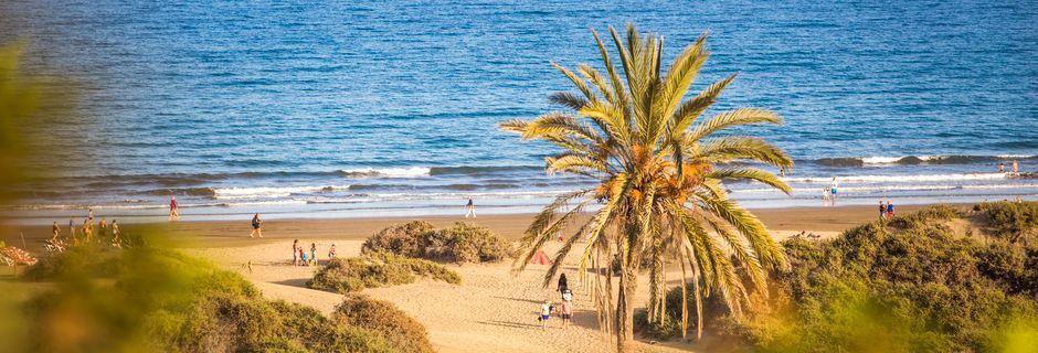 Stranden i Playa del Inglés på Gran Canaria, Spanien.