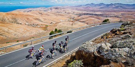 Bra cyklingsmöjligheter vid Playitas på Fuerteventura.