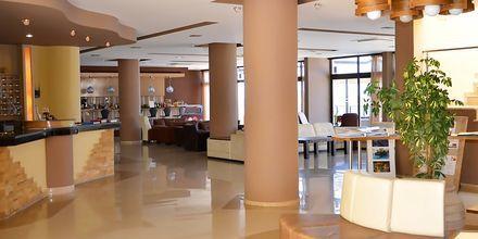 Lobby på hotell Plaza på Kalymnos, Grekland.