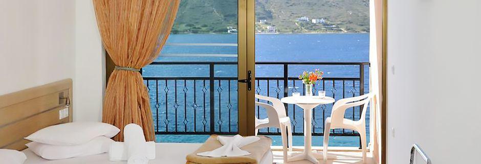 Dubbelrum på hotell Plaza på Kalymnos, Grekland.