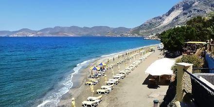 Stranden vid hotell Plaza på Kalymnos, Grekland.