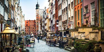 Mysiga gatan Mariacka i Gdansk, Polen.