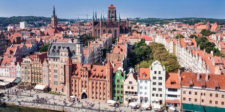 Gdansk ligger vid Östersjöns kust och är ett relativt billigt resmål.