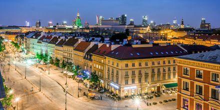 Kväll i Warszawa, Polen. Här väntar ett rikt nattliv!