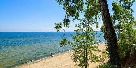 Långa sandstränder väntar på Polens riviera - Sopot.