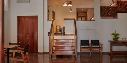 Lobbyn på hotell Polixeni i Pythagorion på Samos, Grekland.
