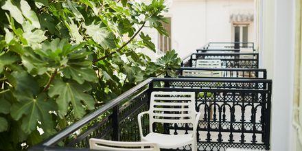 Dubbelrum på hotell Polixeni i Pythagorion på Samos, Grekland.