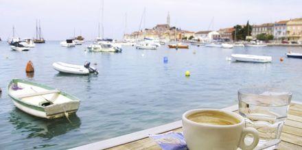 I Porec serveras mat och dryck med inspiration från Italien.