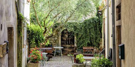 Mysiga innergårdar hittar du i Porec, Kroatien.