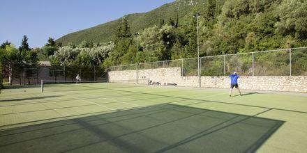 Tennis på hotell Porto Galini, Lefkas.