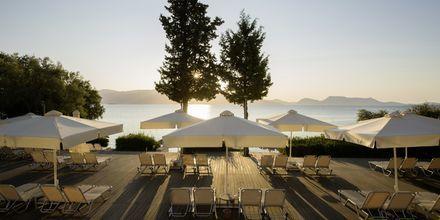 Stranden vid hotell Porto Galini, Lefkas i Grekland.