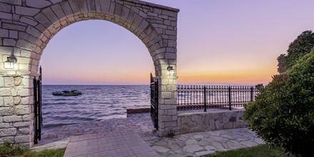 Utsikt från hotell Porto Iliessa i Argassi på Zakynthos.