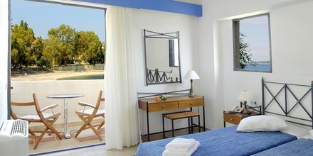 Dubbelrummet på hotell Porto Ligia på Lefkas, Grekland.