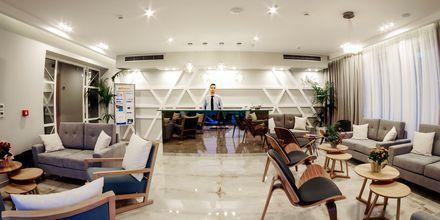 Lobby på hotell Porto Planos Beach på Zakynthos, Grekland.