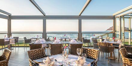 Restaurang på hotell Porto Platanias Luxury Selection i Platanias på Kreta, Grekland.