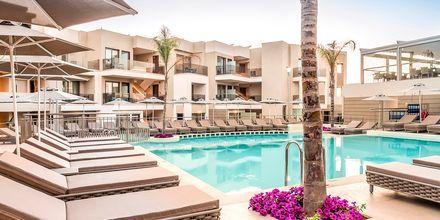 Poolområde på hotell Porto Platanias Luxury Selection i Platanias på Kreta, Grekland.