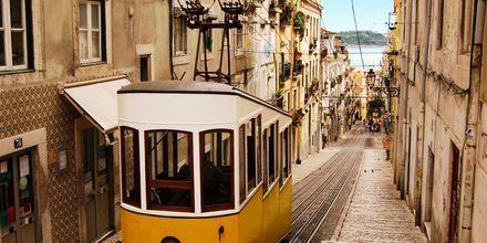 Spårvagn i Lissabon, Portugal.