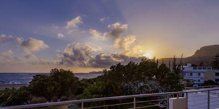 Utsikt från hotell Poseidon i Paleochora på Kreta, Grekland.