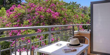 Balkong på hotell Poseidon i Paleochora på Kreta, Grekland.