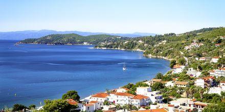 Utsikt från hotell Poseidon på Skiathos, Grekland.