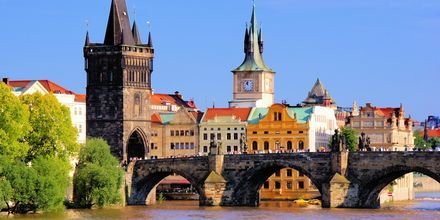 Karlsbron i Prag, Tjeckien.