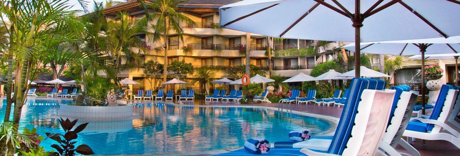 Pool på hotell Prama Sanur Beach, Bali.