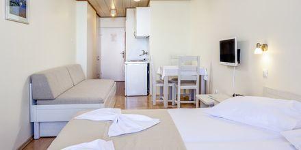 Enrumslägenhet på hotell Primordia i Podgora, Makarska Rivieran, Kroatien.