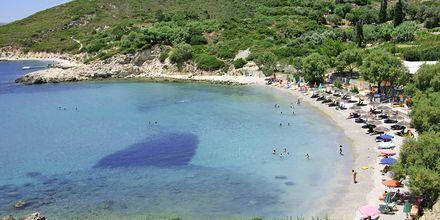 Stranden vid Princessa Riviera Resort på Samos, Grekland.