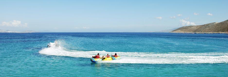 Vattensport vid hotell Aegan View Aqua Resort i Psalidi på Kos, Grekland.