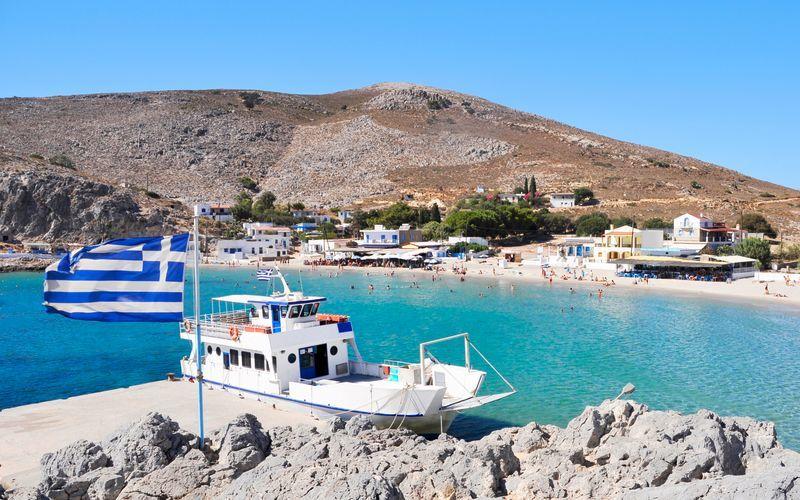 Pserimos i Grekland.