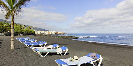 Playa Jardin i Puerto de la Cruz på Teneriffa, Spanien.