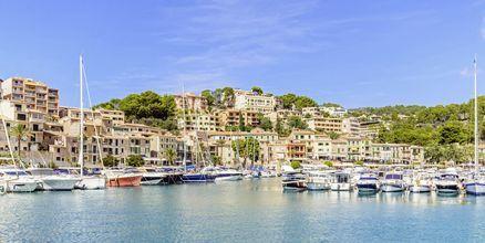 Puerto de Sóller på Mallorca, Spanien.