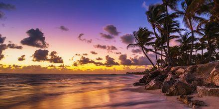 Solnedgång i Dominikanska republiken.
