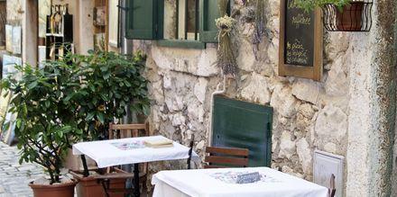 Restaurang i Pula, Istrien, Kroatien.