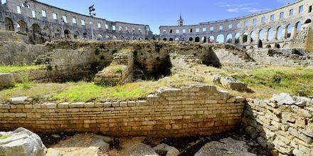Amfiteatern i Pula, Istrien, Kroatien.
