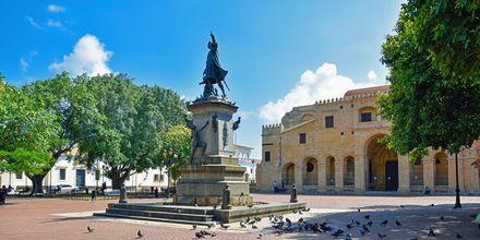 Staty till äran av Christofer Columbus, som upptäckte Dominikanska republiken.