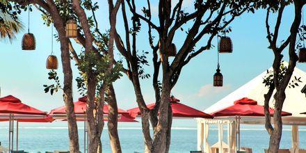 Strandrestaurangen  på hotell Puri Santrian i Sanur, Bali.