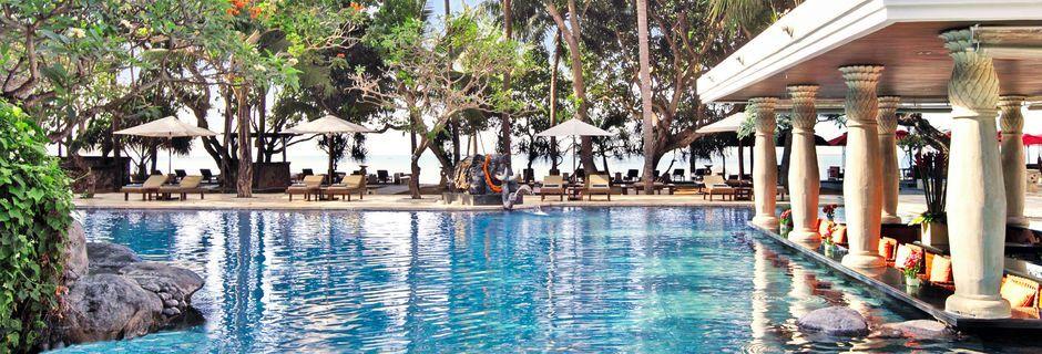 Strandpool på hotell Puri Santrian i Sanur, Bali.