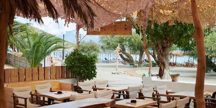 Stranden Psili Ammos i Pythagorion på Samos, Grekland.