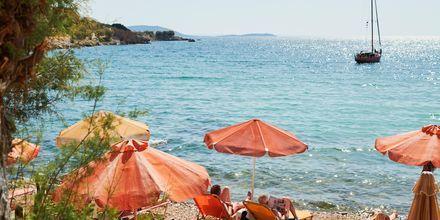 Strand i Pythagorion på Samos, Grekland.