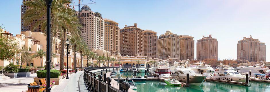 The Pearl är en konstgjord ö i Doha, Qatar.