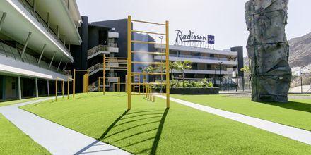 Utomhusgym på Radisson Blu Resort & Spa i Puerto de Mogán på Gran Canaria.