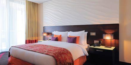 Dubbelrum på hotell Radisson Blu Yas Island i Abu Dhabi.