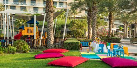 Lekplats på hotell Radisson Blu Yas Island i Abu Dhabi.