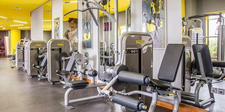 Gym på hotell Radisson Blu Yas Island i Abu Dhabi.