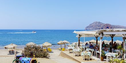 Stranden vid hotell Rania i Platanias, Kreta.