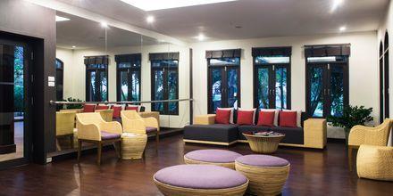 Lounge på hotell Rawi Warin på Koh Lanta, Thailand.