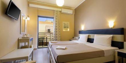 Dubbelrum på hotell Rea i Paleochora på Kreta, Grekland.