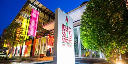 Lobby på Red Ginger Chic Resort på Krabi, Thailand.