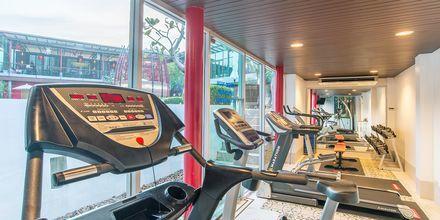 Gym på Red Ginger Chic Resort på Krabi, Thailand.